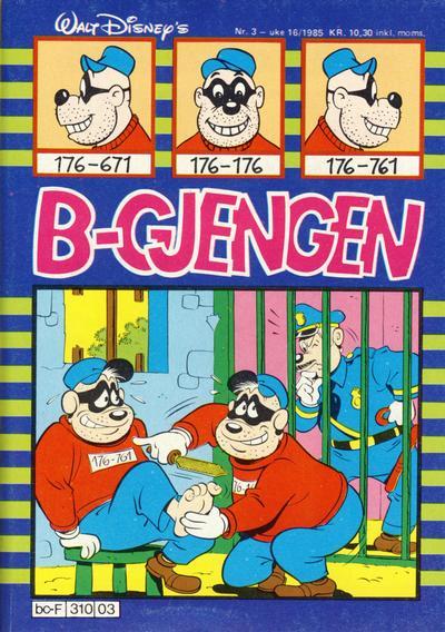 Cover for B-gjengen (Hjemmet / Egmont, 1985 series) #3/1985