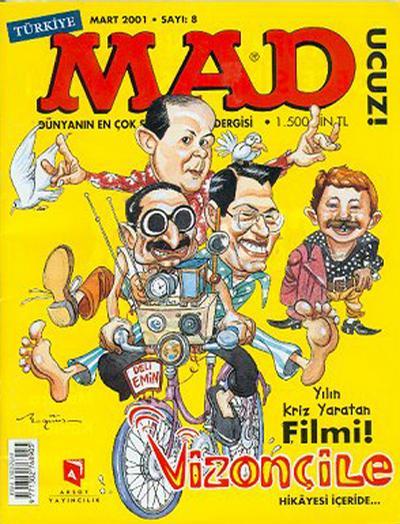 Cover for Türkiye MAD (Aksoy Yayıncılık, 2000 series) #8