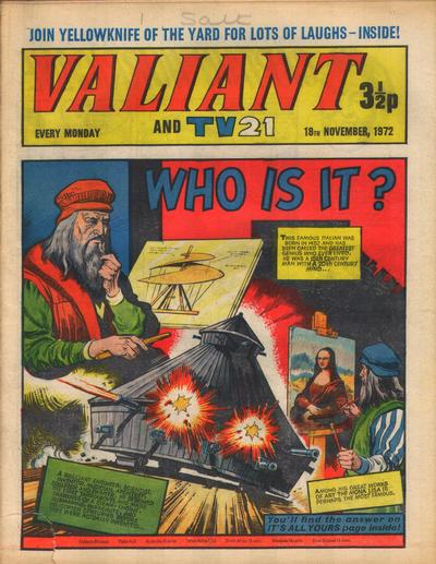 Cover for Valiant and TV21 (IPC, 1971 series) #18th November 1972