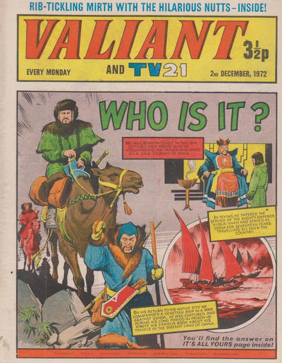 Cover for Valiant and TV21 (IPC, 1971 series) #2nd December 1972
