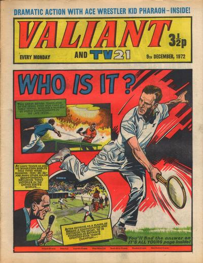 Cover for Valiant and TV21 (IPC, 1971 series) #9th December 1972