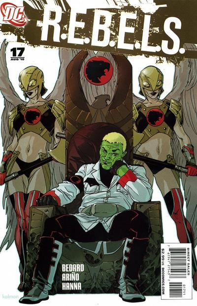 Cover for R.E.B.E.L.S. (DC, 2009 series) #17
