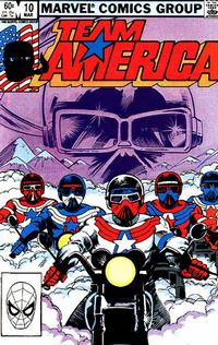Cover Thumbnail for Team America (Marvel, 1982 series) #10 [Direct]