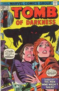 Cover Thumbnail for Tomb of Darkness (Marvel, 1974 series) #15