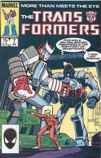 Cover Thumbnail for The Transformers (Marvel, 1984 series) #7 [Direct Edition]