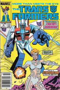 Cover for The Transformers (Marvel, 1984 series) #9 [Newsstand Edition]