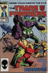Cover Thumbnail for The Transformers (Marvel, 1984 series) #10 [Direct Edition]