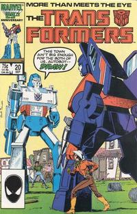 Cover Thumbnail for The Transformers (Marvel, 1984 series) #20 [Direct]