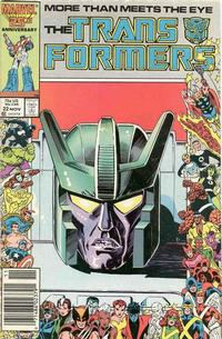 Cover Thumbnail for The Transformers (Marvel, 1984 series) #22 [Newsstand]