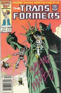Cover Thumbnail for The Transformers (Marvel, 1984 series) #23 [Newsstand]