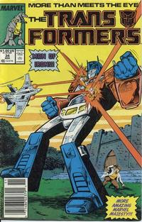 Cover Thumbnail for The Transformers (Marvel, 1984 series) #34 [Newsstand]