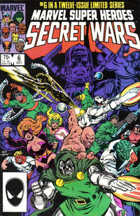 Cover for Marvel Super-Heroes Secret Wars (Marvel, 1984 series) #6 [Direct Edition]