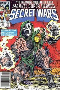 Cover for Marvel Super-Heroes Secret Wars (Marvel, 1984 series) #10 [Direct Edition]