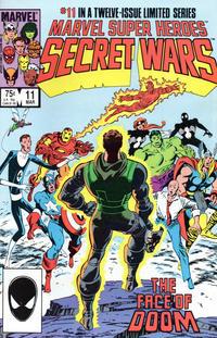 Cover for Marvel Super-Heroes Secret Wars (Marvel, 1984 series) #11 [Newsstand Edition]