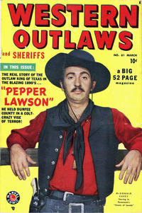 Cover Thumbnail for Western Outlaws and Sheriffs (Marvel, 1949 series) #61