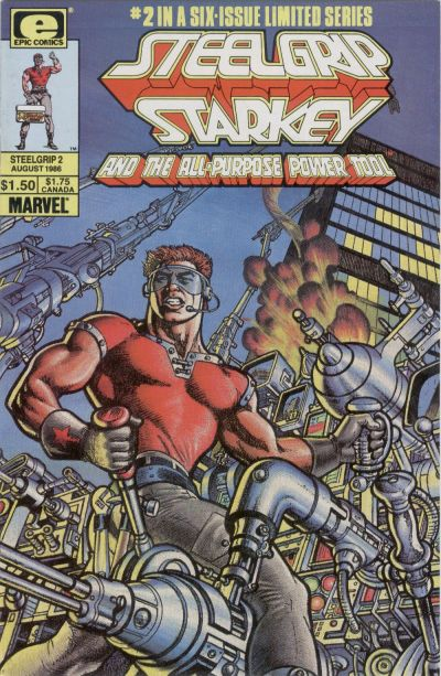 Cover for Steelgrip Starkey (Marvel, 1986 series) #2
