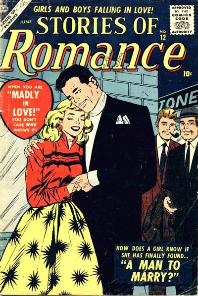 Cover for Stories of Romance (Marvel, 1956 series) #12