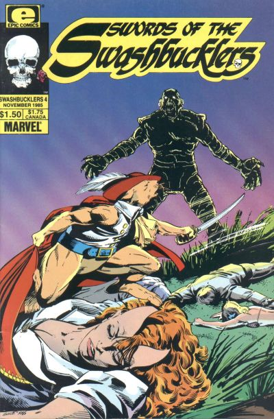 Cover for Swords of the Swashbucklers (Marvel, 1985 series) #4