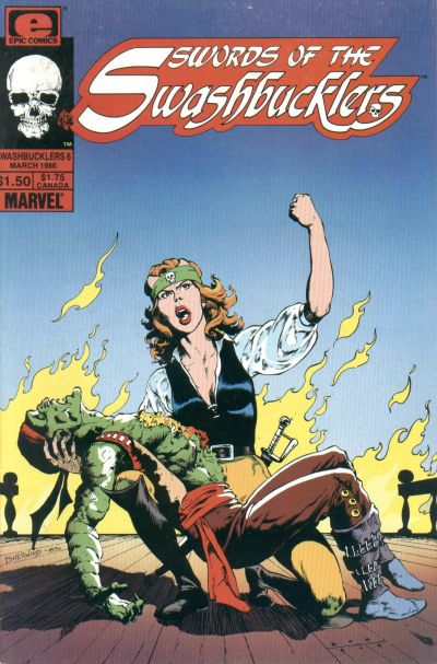 Cover for Swords of the Swashbucklers (Marvel, 1985 series) #6