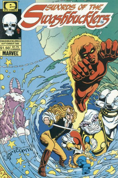 Cover for Swords of the Swashbucklers (Marvel, 1985 series) #9