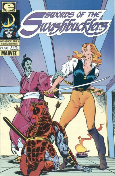 Cover for Swords of the Swashbucklers (Marvel, 1985 series) #10