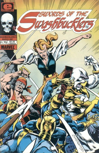 Cover for Swords of the Swashbucklers (Marvel, 1985 series) #12