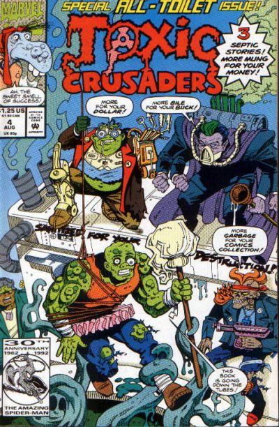 Cover for Toxic Crusaders (Marvel, 1992 series) #4 [Newsstand]