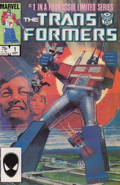 Cover for The Transformers (Marvel, 1984 series) #1 [Canadian Variant]