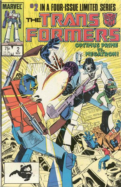 Cover for The Transformers (Marvel, 1984 series) #2 [Direct Edition]
