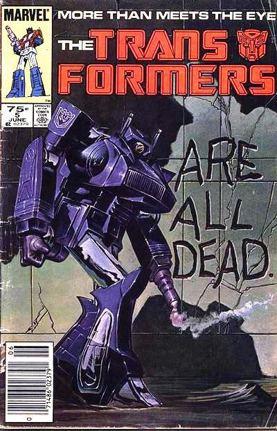 Cover for The Transformers (Marvel, 1984 series) #5 [Direct Edition]