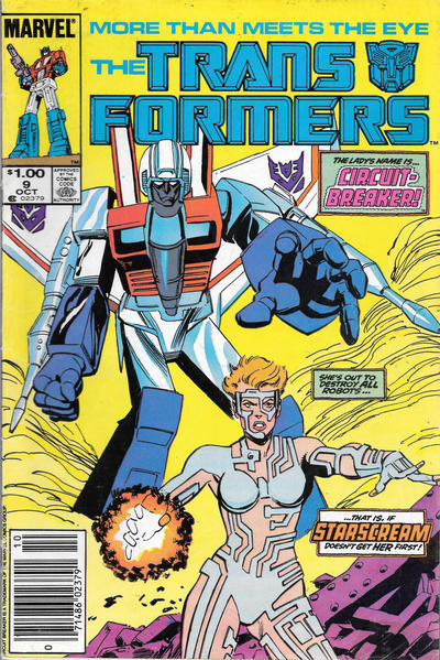 Cover for The Transformers (Marvel, 1984 series) #9 [2nd Printing]