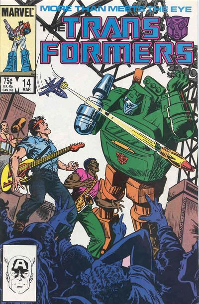 Cover for The Transformers (Marvel, 1984 series) #14 [Direct Edition]