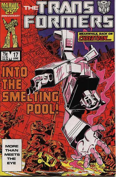 Cover for The Transformers (Marvel, 1984 series) #17 [Direct Edition]