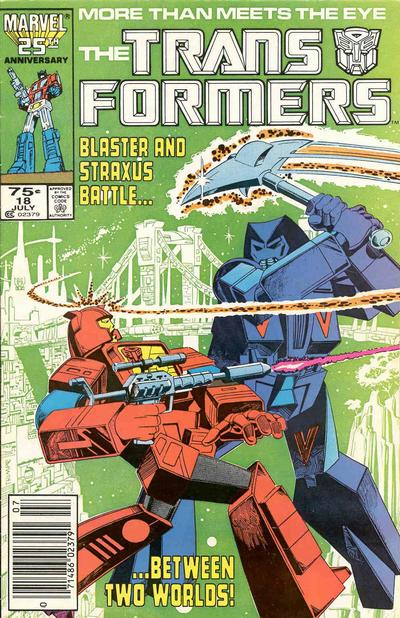 Cover for The Transformers (Marvel, 1984 series) #18 [Direct Edition]