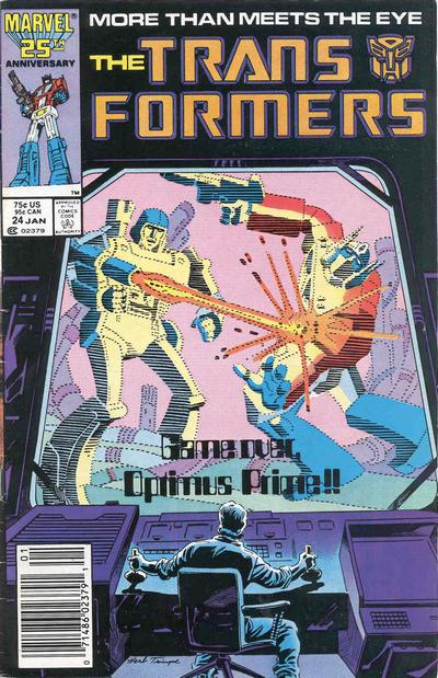 Cover for The Transformers (Marvel, 1984 series) #24 [Newsstand]