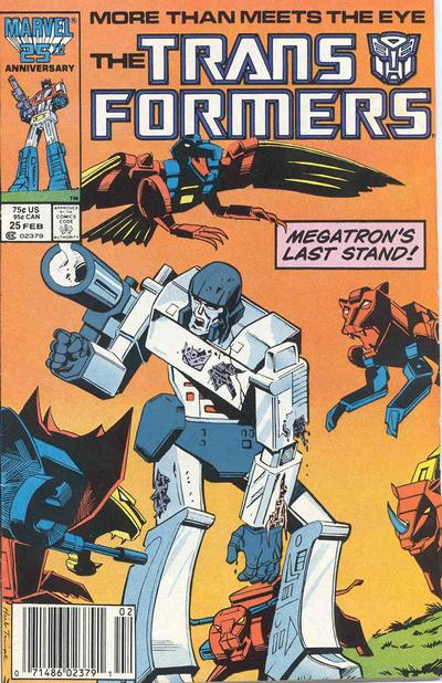 Cover for The Transformers (Marvel, 1984 series) #25 [Direct]