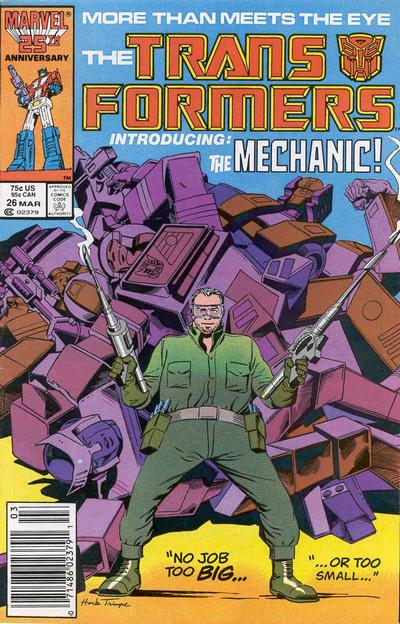 Cover for The Transformers (Marvel, 1984 series) #26 [Direct]