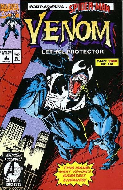 Cover for Venom: Lethal Protector (Marvel, 1993 series) #2 [Direct]