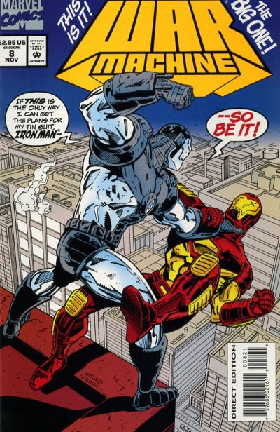 Cover for War Machine (Marvel, 1994 series) #8 [Direct Edition]
