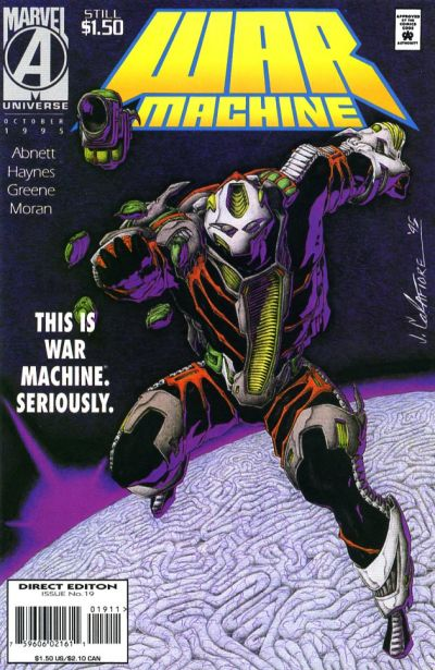 Cover for War Machine (Marvel, 1994 series) #19