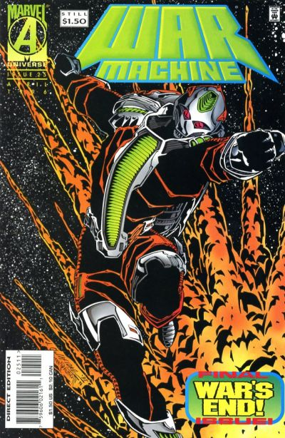 Cover for War Machine (Marvel, 1994 series) #25