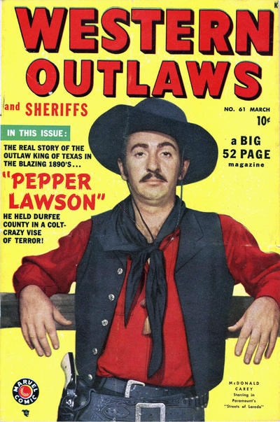 Cover for Western Outlaws and Sheriffs (Marvel, 1949 series) #61