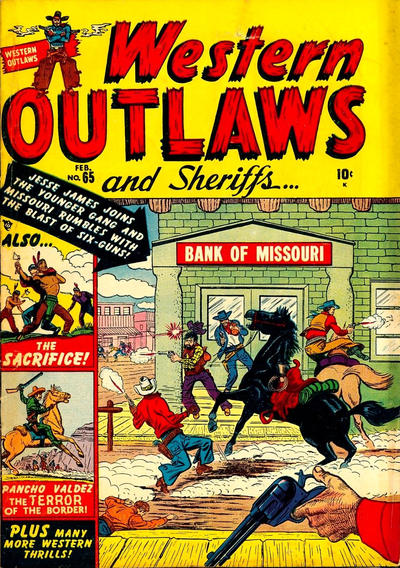 Cover for Western Outlaws and Sheriffs (Marvel, 1949 series) #65
