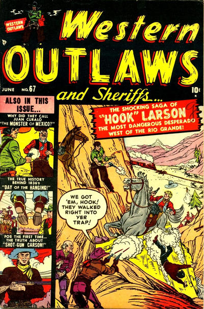 Cover for Western Outlaws and Sheriffs (Marvel, 1949 series) #67