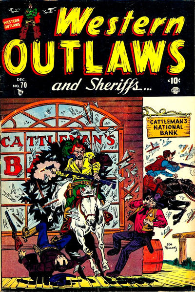 Cover for Western Outlaws and Sheriffs (Marvel, 1949 series) #70