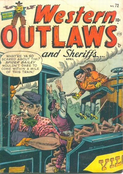 Cover for Western Outlaws and Sheriffs (Marvel, 1949 series) #72