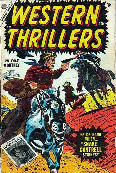 Cover for Western Thrillers (Marvel, 1954 series) #4