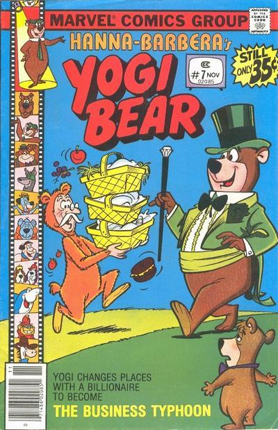 Cover for Yogi Bear (Marvel, 1977 series) #7