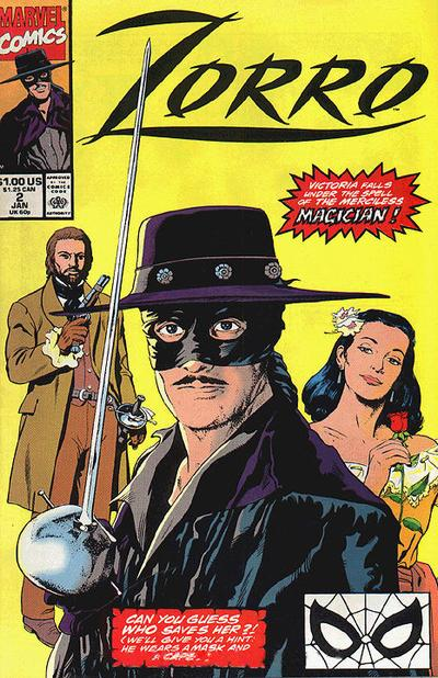 Cover for Zorro (Marvel, 1990 series) #2