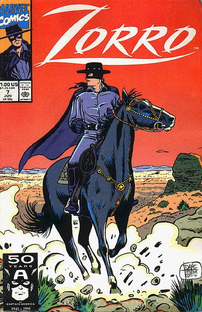 Cover for Zorro (Marvel, 1990 series) #7